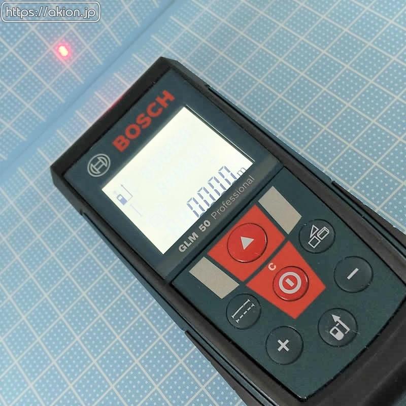 レーザーで距離を測るBOSCH GLM50